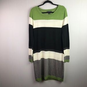 Jessica Howard | Size M. Color Block Sweater Dress